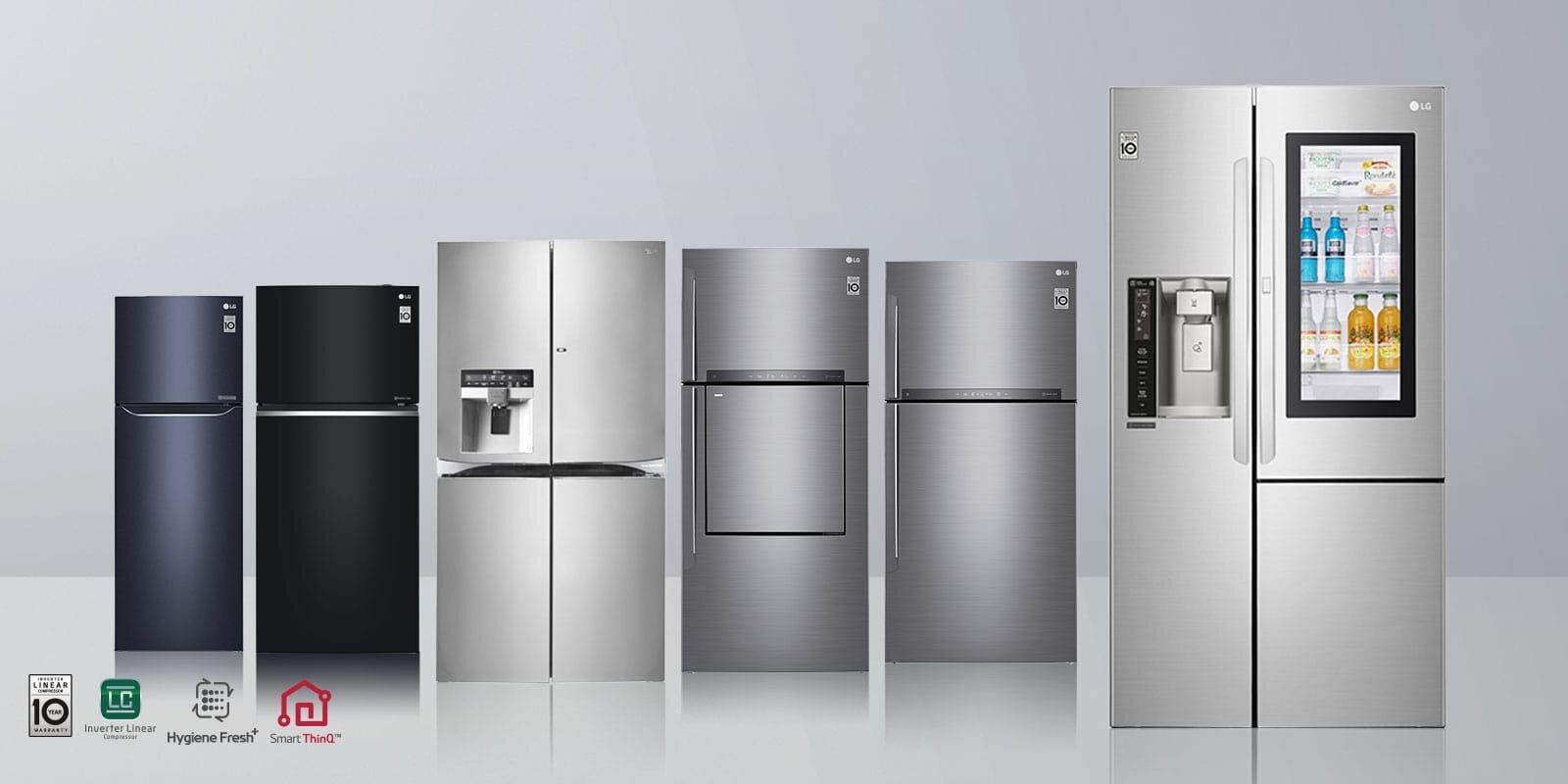 Tủ lạnh LG sở hữu nhiều thiết kế