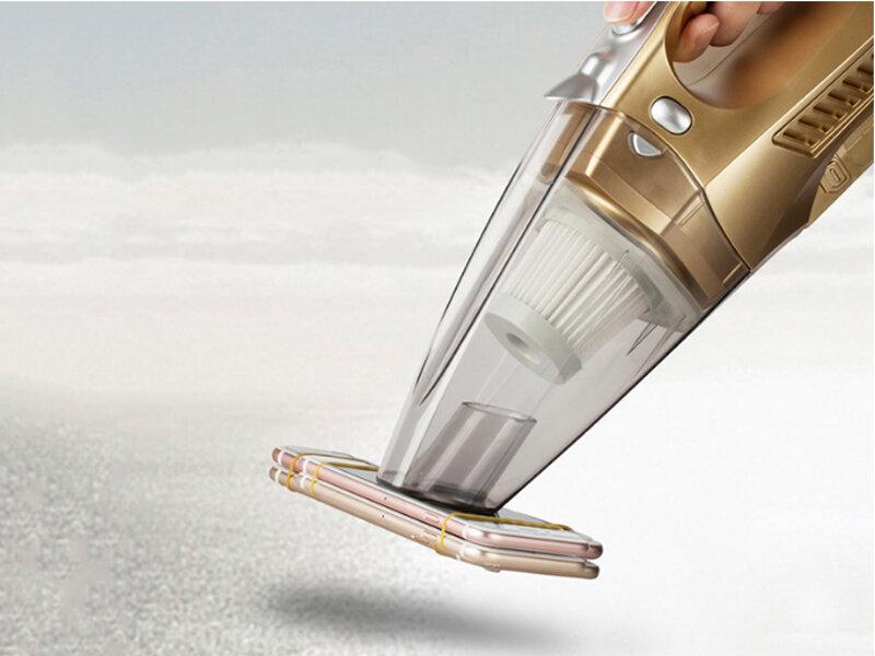 Máy hút bụi mini có thiết kế cực kỳ đơn giản và gọn nhẹ