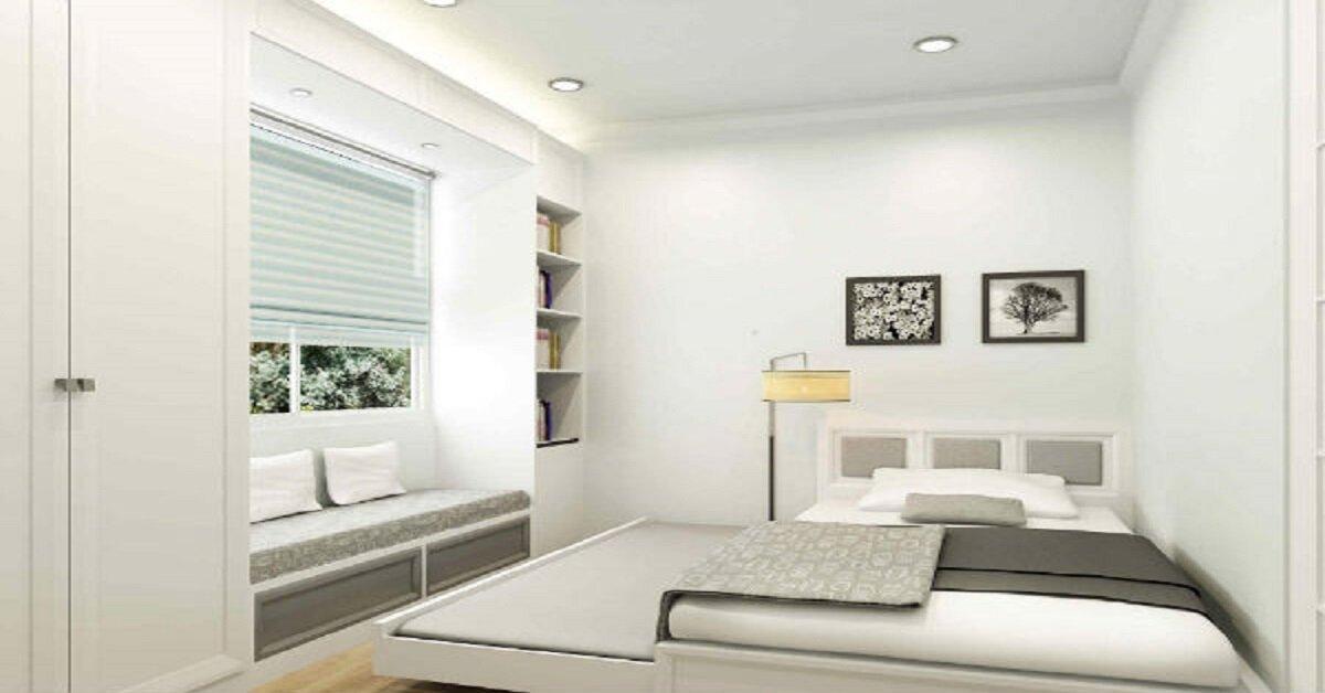 không gian nội thất phòng ngủ nhỏ