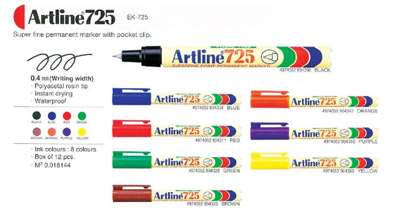 Bút lông dầu ngòi kim Artline EK-725