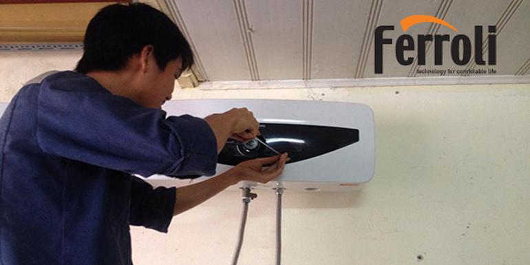 Vệ sinh bình nóng lạnh Ferroli để an toàn và tiết kiệm hơn