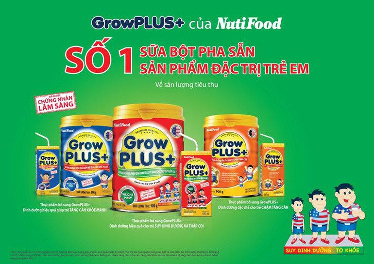 Grow Plus Nutifood là dòng sản phẩm sữa bột uy tín và chất lượng được nhiều mẹ tin dùng (Nguồn: plo.vn)