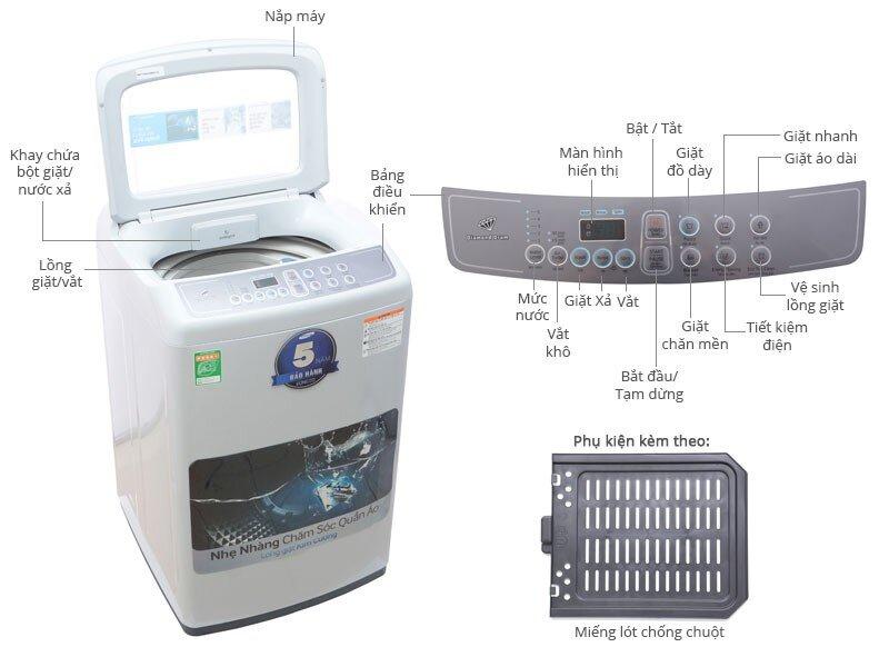 Sở hữu lồng giặt kim cương giúp WA72H4000SG/SV bảo vệ quần áo khi giặt