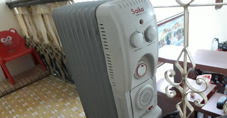 Máy sưởi dầu Saiko giá rẻ an toàn tiết kiệm.