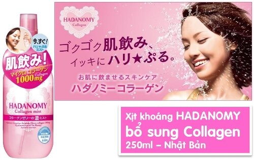 xịt khoáng Hadanomy Collagen Mist review