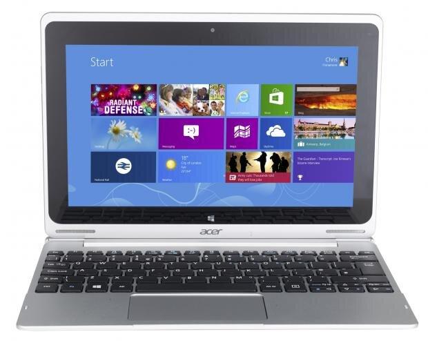 Acer Aspire Switch 10 trông giống như một chiếc laptop thông thường