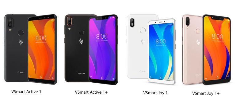 4 mẫu điện thoại VSmart đầu tiên