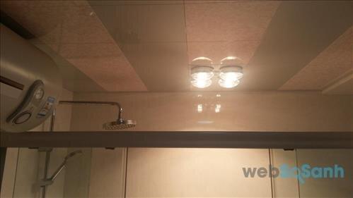 Đèn sưởi nhà tắm âm trần 4 bóng