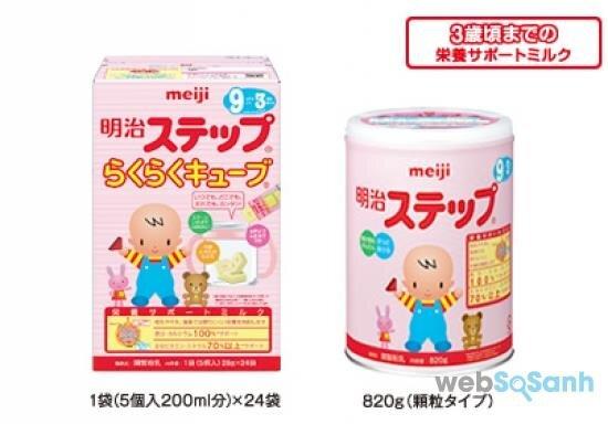 sữa bột Meiji