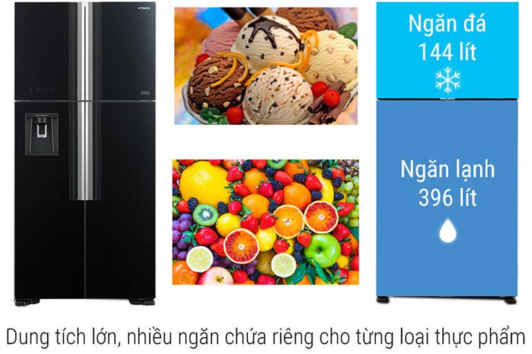 Tủ lạnh Hitachi R-FW690PGV7X (GBK) thiết kế hiện đại và sang trọng