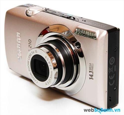 Máy ảnh du lịch Canon IXUS 210 có thiết kế nhỏ gọn, thời trang và bắt mắt