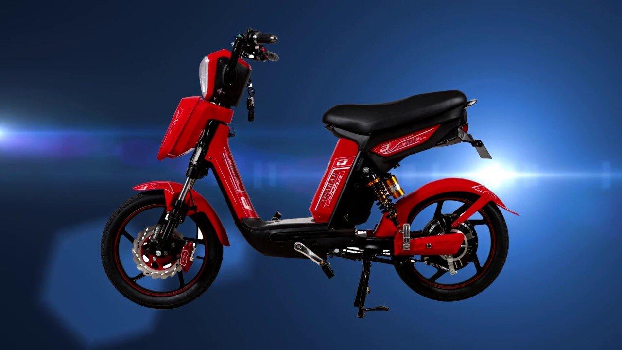 Xe đạp điện Osakar Alpha thiết kế nhỏ gọn phù hợp đi trong thành phố