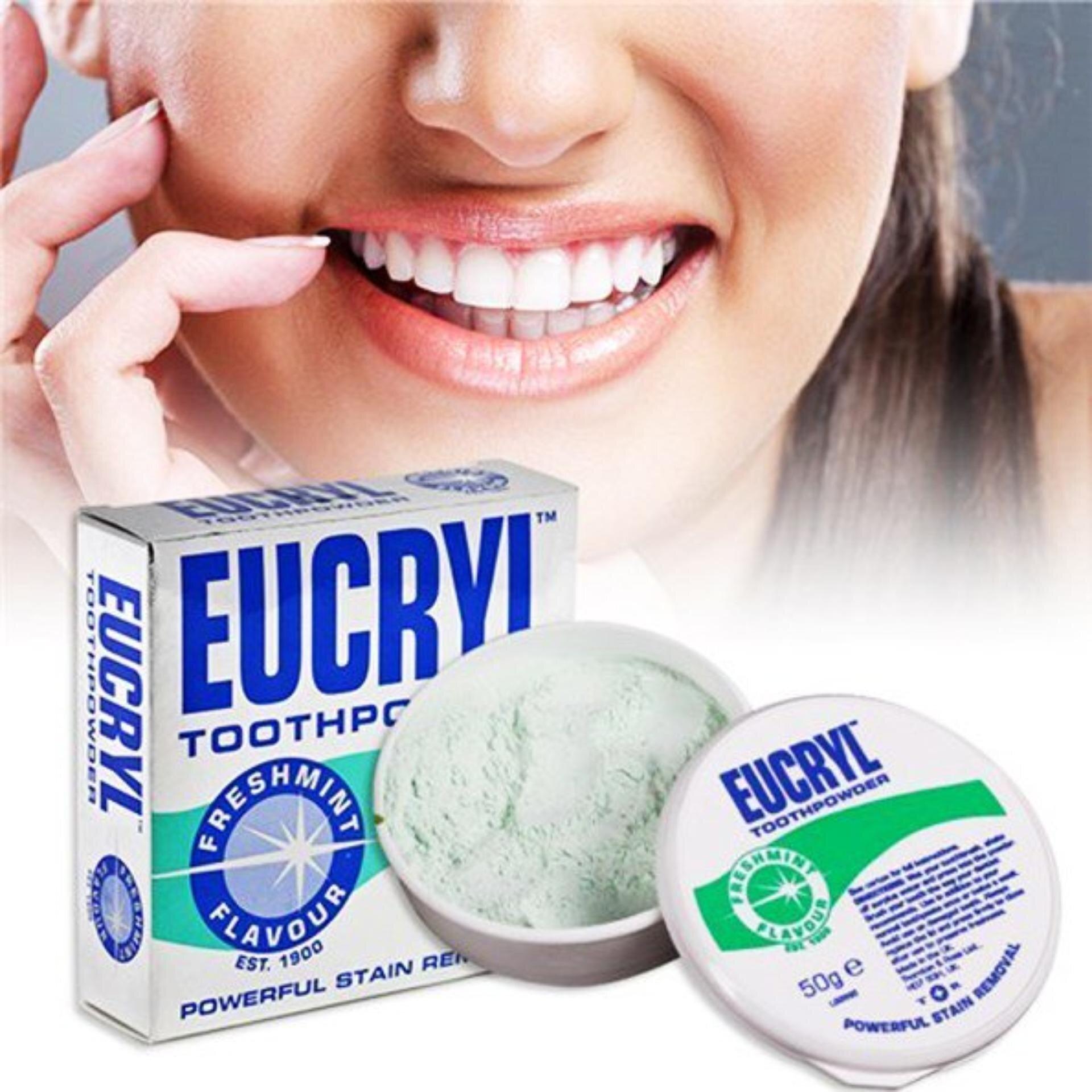 Sản phẩm bột tẩy trắng răng Eucryl được nhiều người dùng yêu thích sử dụng (Nguồn: lazada.vn)