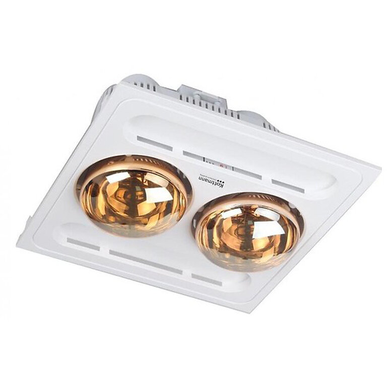 Đèn sưởi nhà tắm âm trần 2 bóng Kottmann thiết kế hiện đại và sang trọng.