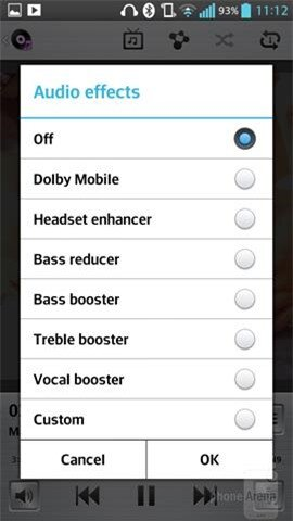 Tùy chỉnh hiệu ứng âm nhạc