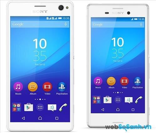 Cả hai mẫu smartphone Xperia C4 Dual và Xperia M4 Aqua đều chạy hệ điều hành Android Lollipop