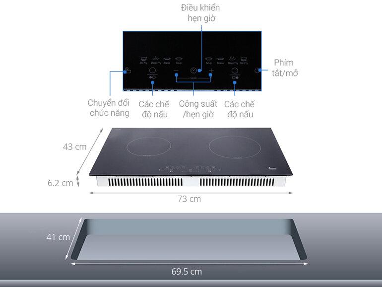 Bếp từ Teka thiết kế mặt kính Euro Kera chịu nhiệt cao