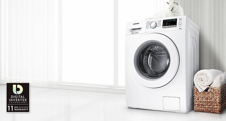 Máy giặt Samsung WW80J42G0BW sở hữu nhiều công nghệ vượt trội
