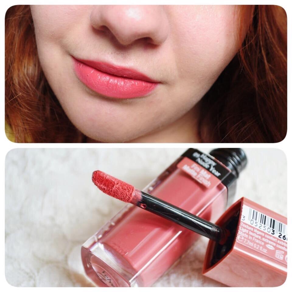 Son hồng Bourjois Velvet 09 Happy Nude Year