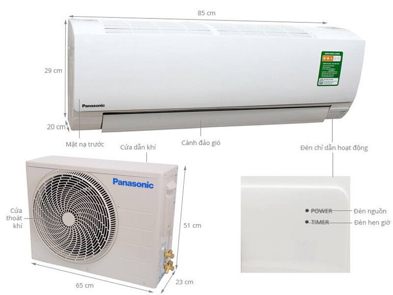 Điều hòa Panasonic 1 chiều 12000btu N12SKH-8