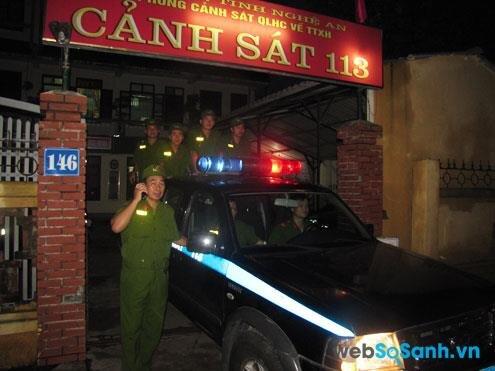 Số điện thoại gọi lực lượng cảnh sát phản ứng nhanh: 113