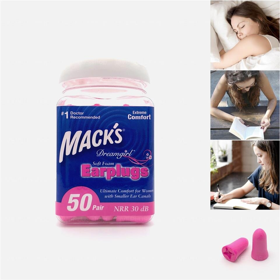 Nút bịt tai Mack's Dreamgirl Soft Foam Earplugs