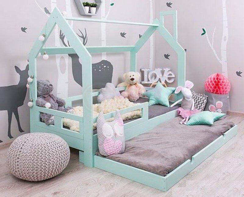 Giường ngủ ngôi nhà có tầng phụ có thể tiết kiệm được tối đa không gian sinh hoạt cho gia đình bạn