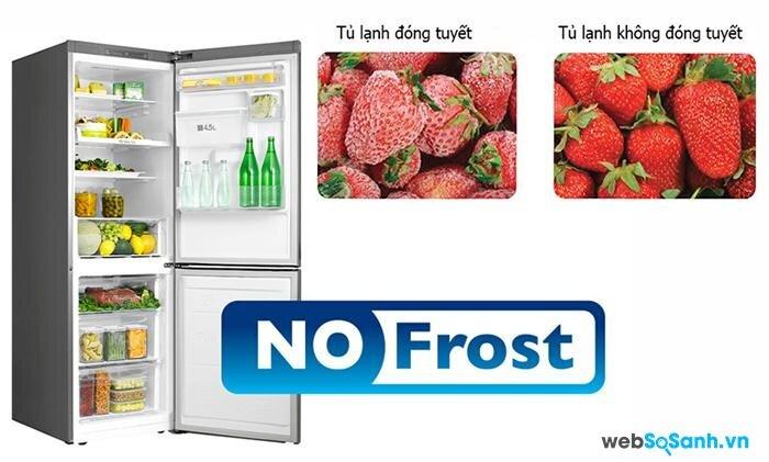 Công nghệ làm lạnh không đóng tuyết giúp tiết kiệm điện năng (nguồn: internet)