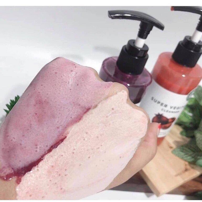 Sữa rửa mặt rau củ thải độc super vegitoks purple