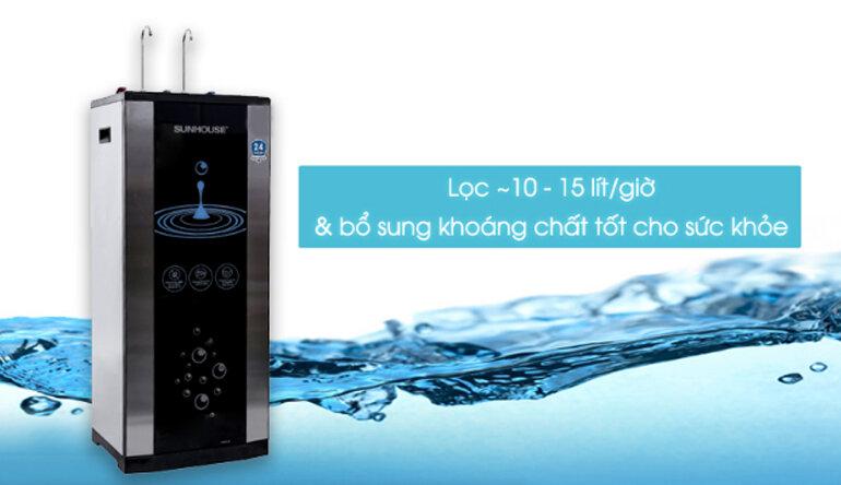 Máy lọc nước RO nóng lạnh Sunhouse SHR76210CK 10 lõi - Giá rẻ nhất: 4.199.000 vnđ