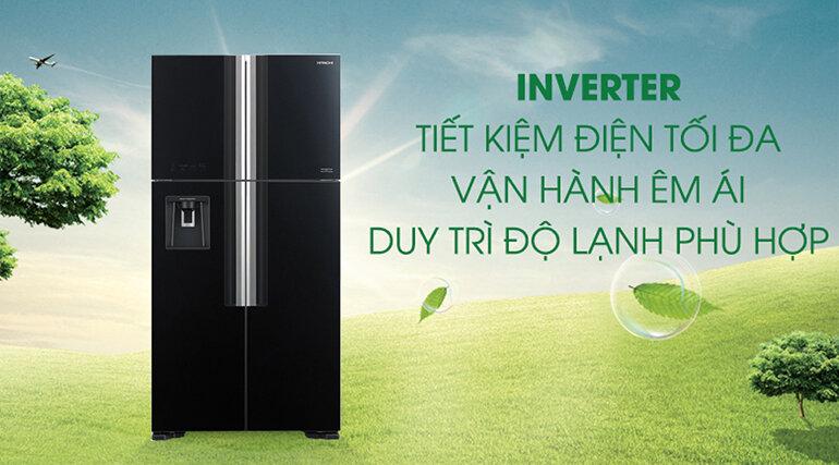 Tủ lạnh Hitachi sử dụng công nghệ inverter tiết kiệm điện hiệu quả