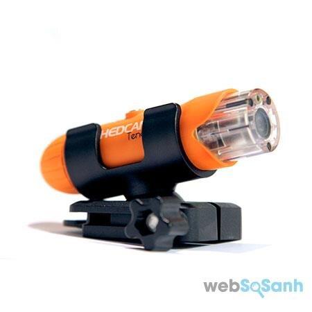 Camera hành trình HEDCAM nhỏ gọn, sành điệu, phù hợp gắn trên mũ bảo hiểm
