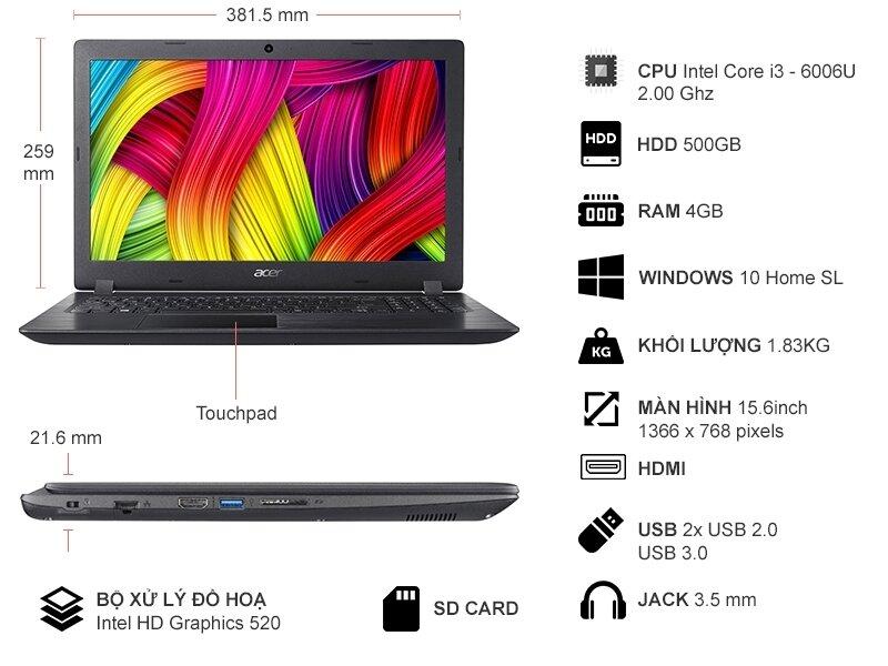 Laptop Acer Aspire A315-51-37HG