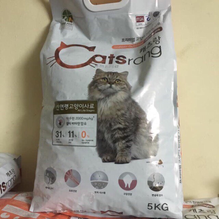 Thức ăn Catsrang cho mèo có thành phần đa dạng và đảm bảo an toàn thực phẩm