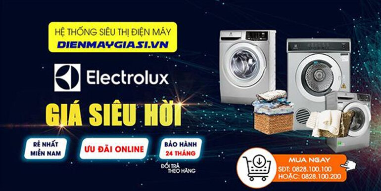 Máy giặt - máy sấy Electrolux inverter 7.5kg - 12kg mẫu mới nhất 2019 đang có giá tốt chỉ từ 6.200.000 vnđ
