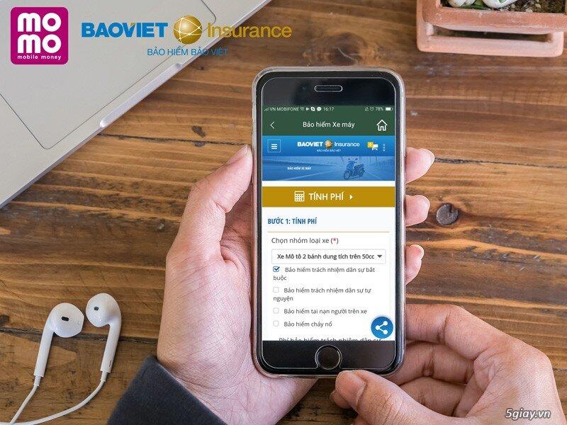 Bảo hiểm xe máy Bảo Việt được triển khai trên ứng dụng di động