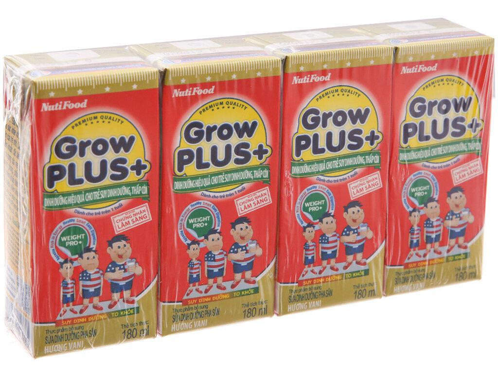 Grow Plus của Nutifood tập trung vào phát triển chiều cao cho trẻ nhỏ