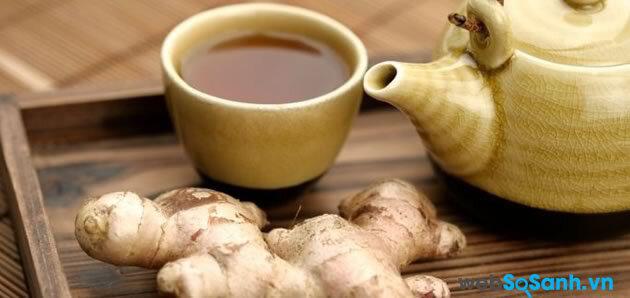 Uống trà gừng, chanh sẽ giúp dễ tiêu hơn rất nhiều