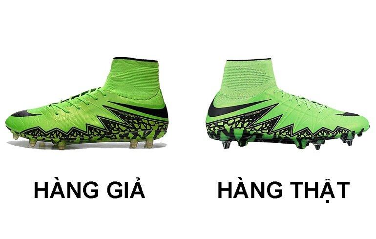 Phân biệt giày bóng đá Nike chính hãng và giày giả
