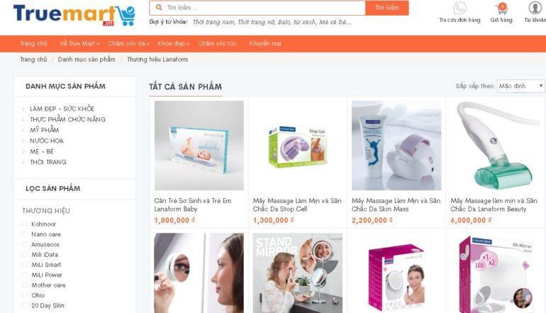 Truemart.vn - Chuyên phân phối sản phẩm chính hãng Rio Beauty của Anh và Lanaform Bỉ