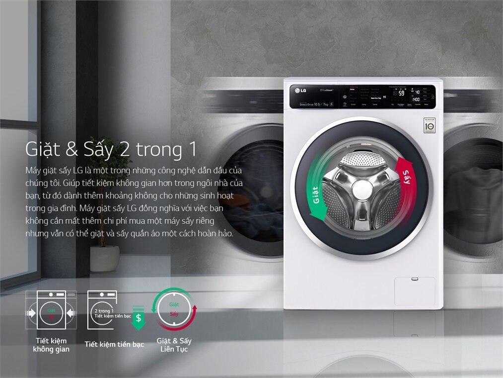 Kiểu dáng của máy giặt LG FC1409S2W