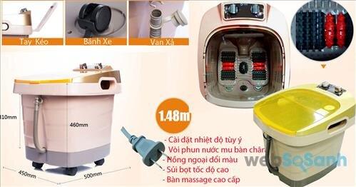 Bồn ngâm massage chân hồng ngoại LD-81