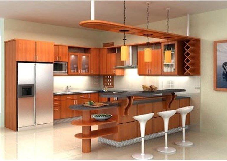 Tham khảo một số mẫu quầy bar ngăn bếp và phòng khách