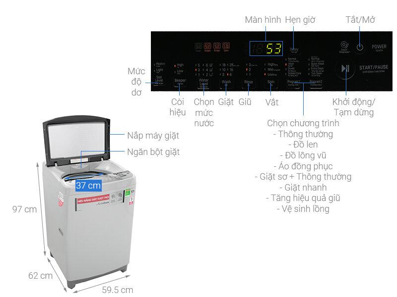 Máy giặt cửa trên LG T2309VS2M