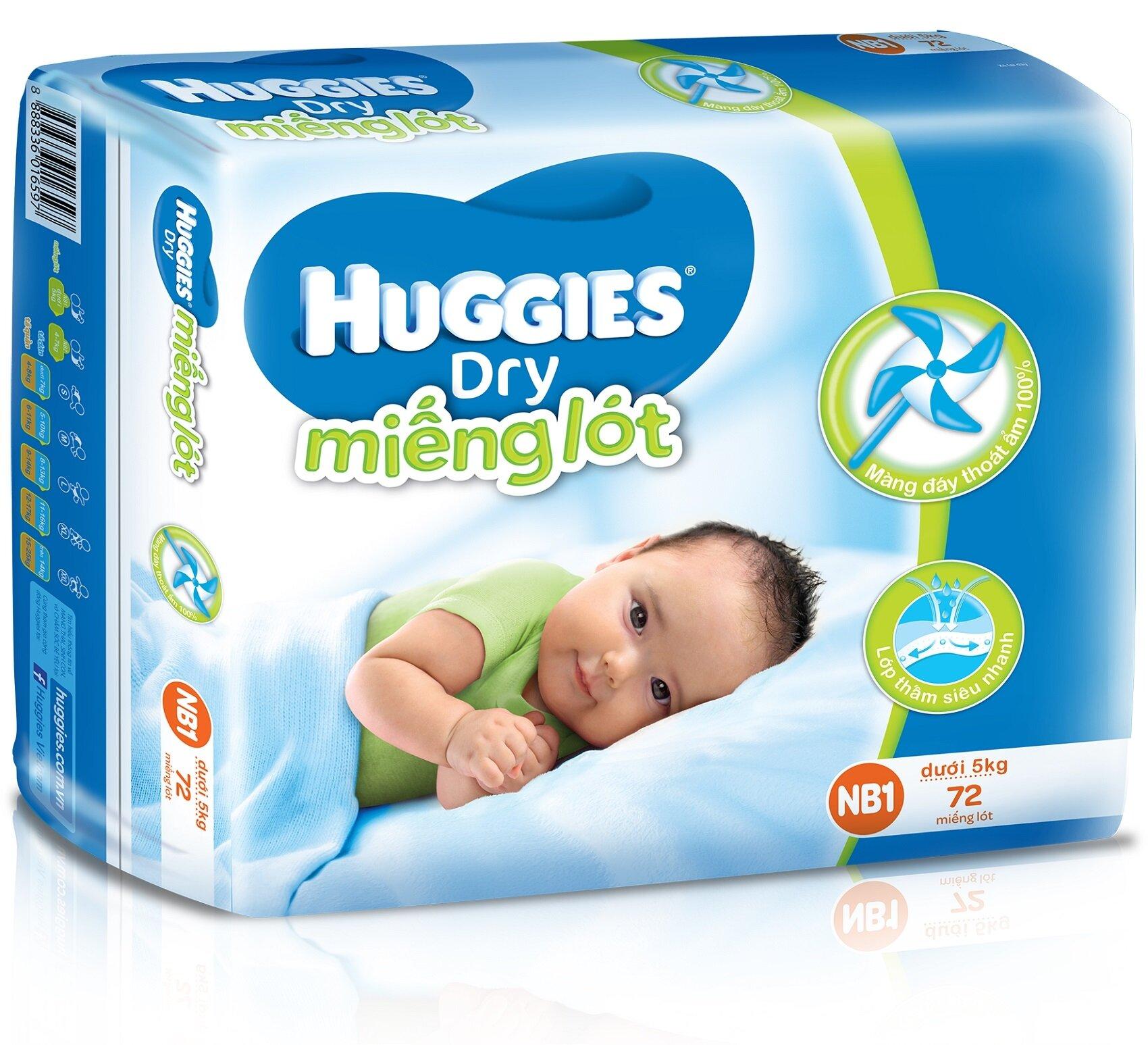 Miếng lót Huggies Newborn 1 (dưới 5kg)