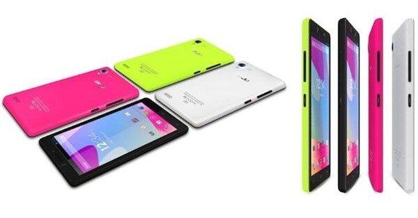 Blu Vivo 4.8 HD có nhiều màu sắc sặc sỡ và khá mỏng