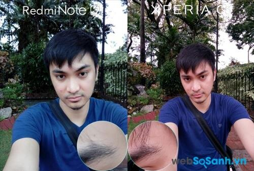 Ảnh selfie trên C5 Ultra và Note 3