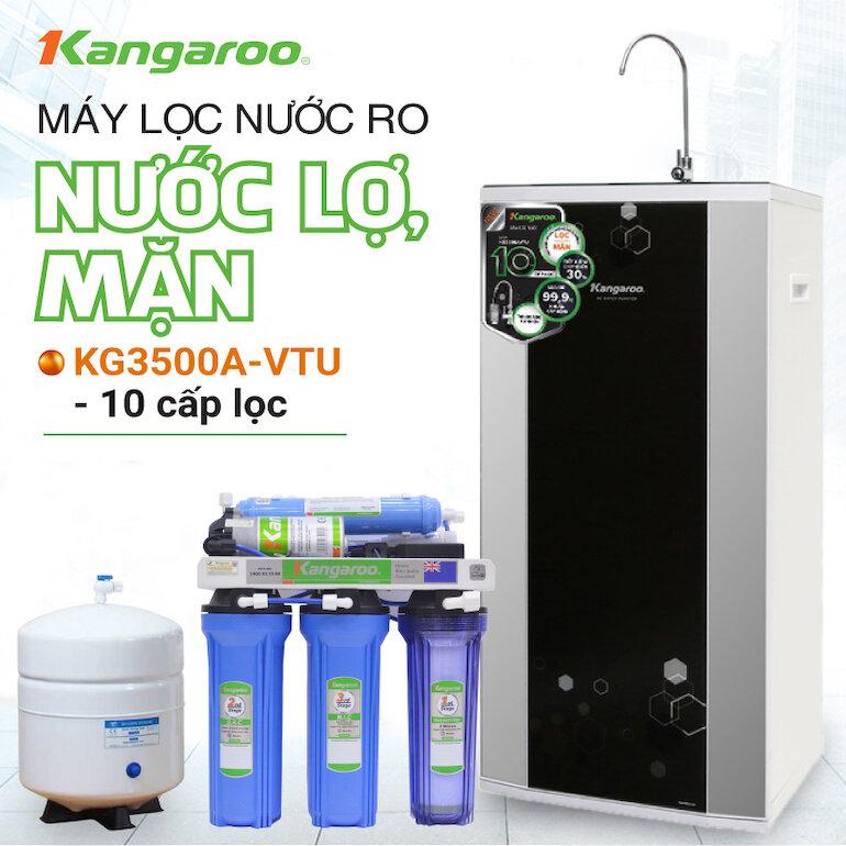 Máy lọc nước RO nước mặn, nước lợ Kangaroo KG 3500 TU 10 lõi