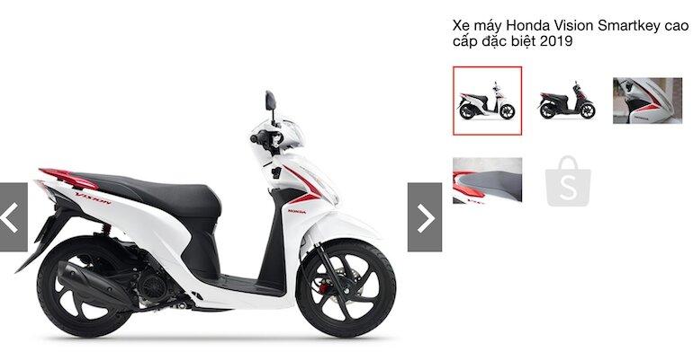 Xe máy Honda Vision Smartkey cao cấp đặc biệt 2019