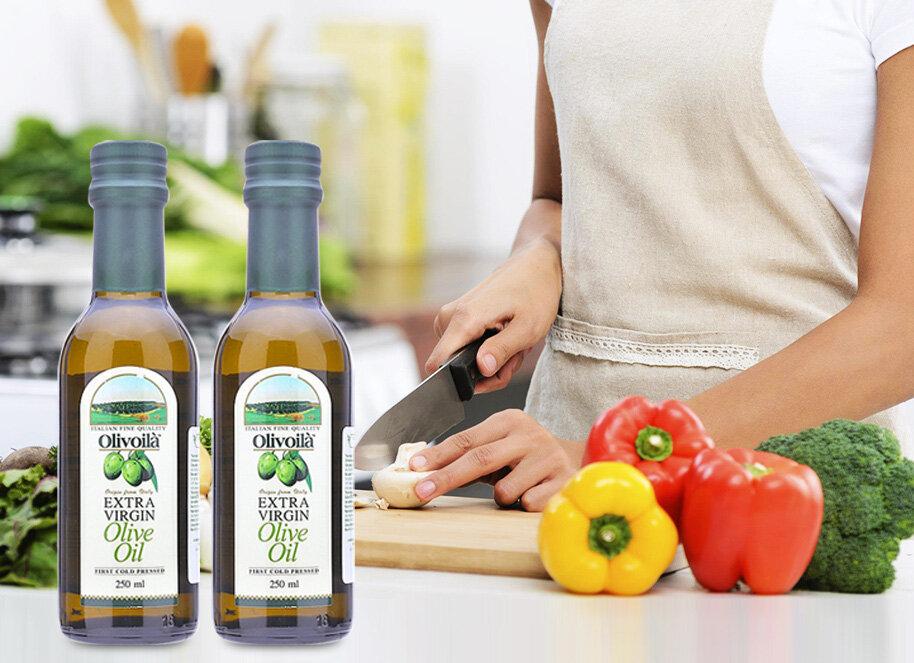 Dầu ô liu Extra Virgin Olivoilà cung cấp các dưỡng chất, vitamin